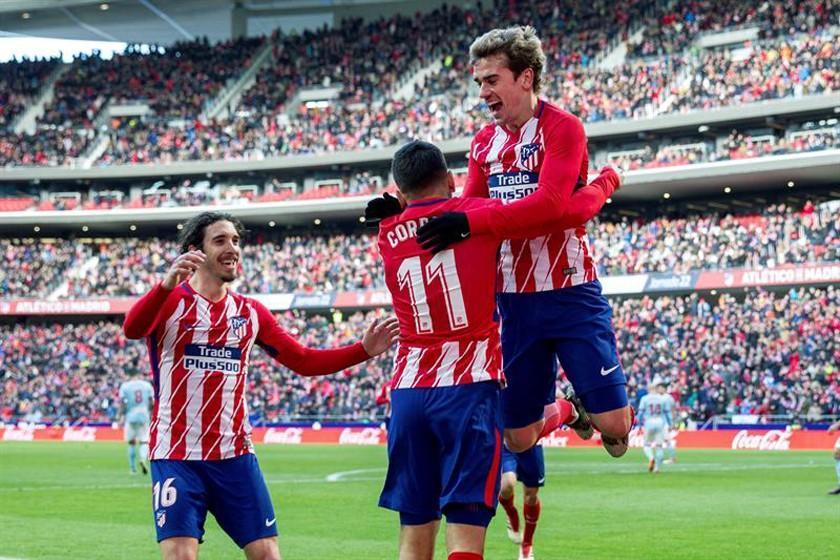 Atlético de Madrid golea sin problemas a Celta