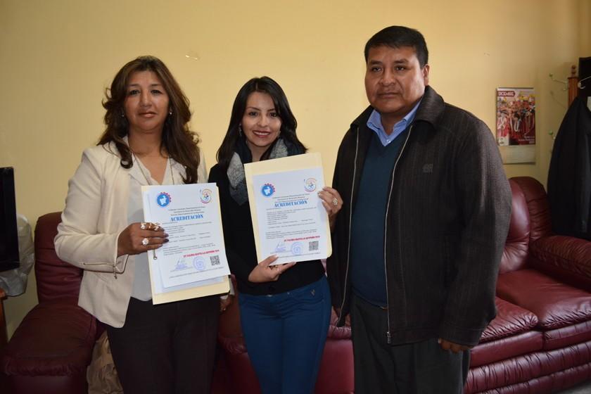 Sedeges entrega acreditaciones a dos parvularios de la ciudad de Potosí