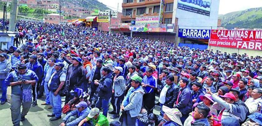 Impedirán que el Gobierno tome el control en Yungas