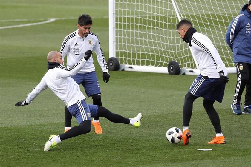 Messi, ausente en la práctica de Argentina