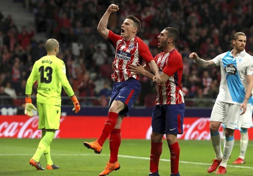 Atlético vence por la mínima a Deportivo
