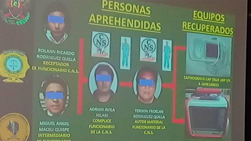 Detienen a funcionarios de la CNS relacionados con el robo de equipos