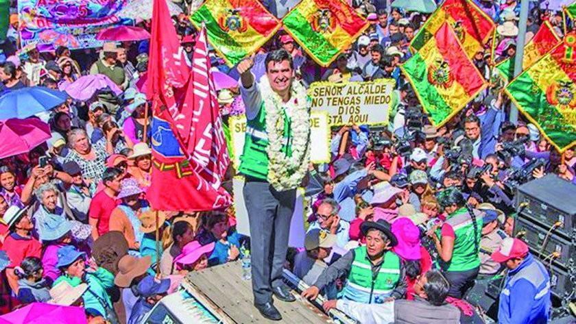 "Alcalde Leyes: ""vengan a encarcelarme, estoy aquí en Cochabamba"""