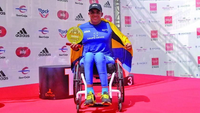 El colombiano Sanclemente conquista el Maratón de Madrid en sillas atléticas