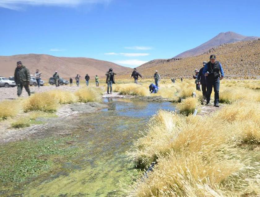 Potosinos reivindican el agua de Sacaya que pasa a suelo chileno