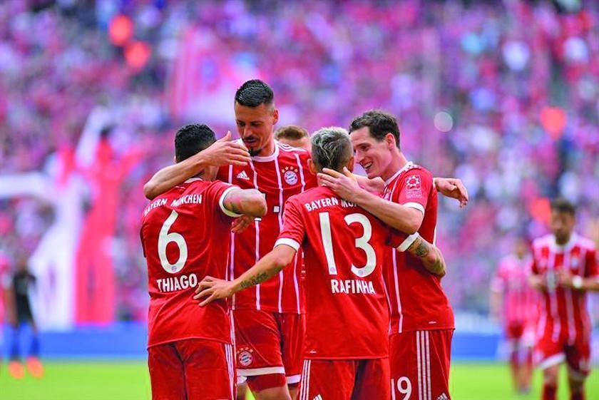 """Bayern golea antes de su visita al """"Bernabeu"""""""