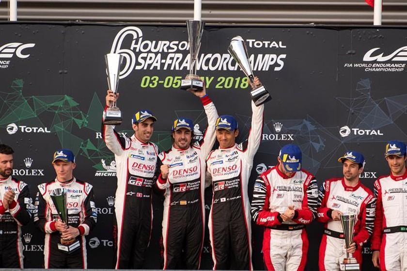 El piloto español Fernando Alonso se corona campeón en las 6 Horas de Spa