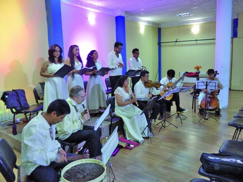 Ensamble ofrece recital de música  sacra