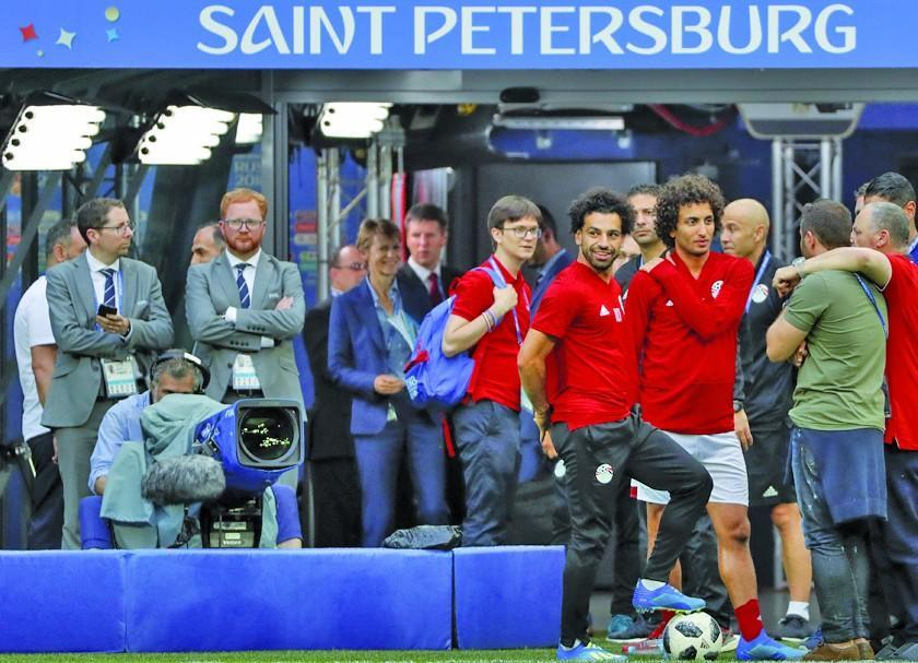 La euforia rusa contra la esperanza egipcia centrada en Salah