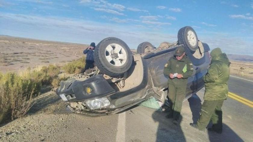 Asambleístas de Oruro resultan heridos en accidente de tránsito