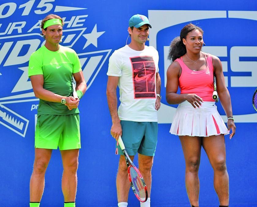 Nadal, Federer y Serena afrontan la recta final de Wimbledon