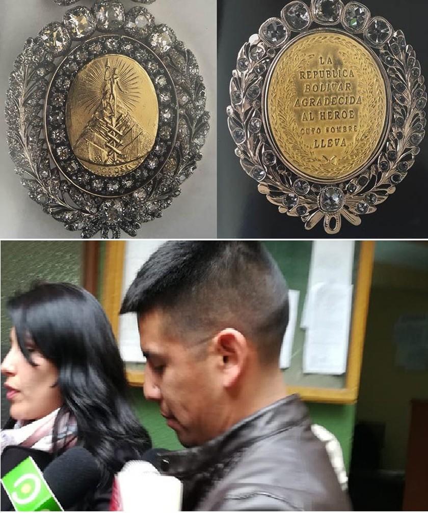La medalla es robada mientras el custodio estaba en un prostíbulo