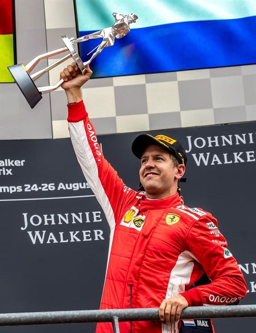 Vettel impone su ley  en el GP de Bélgica