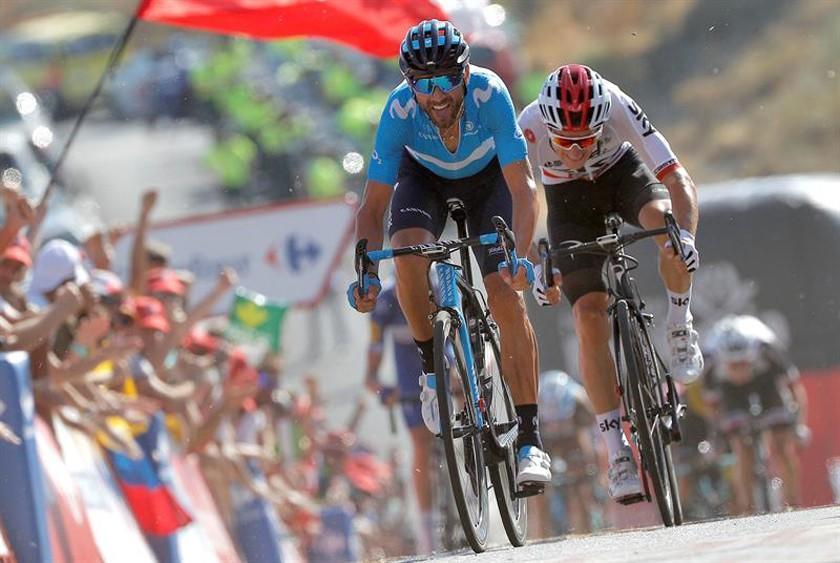 Valverde gana la segunda etapa de la Vuelta 2018