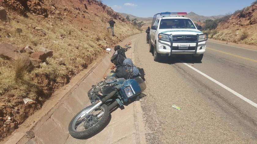 Un motociclista Belga perdió la vida luego de chocar contra una roca