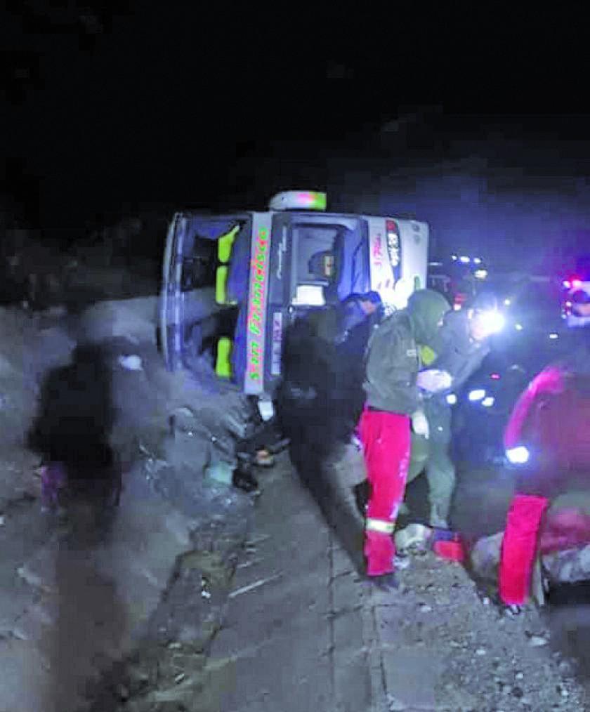 Accidente en la vía Sucre - Potosí deja 4 fallecidos