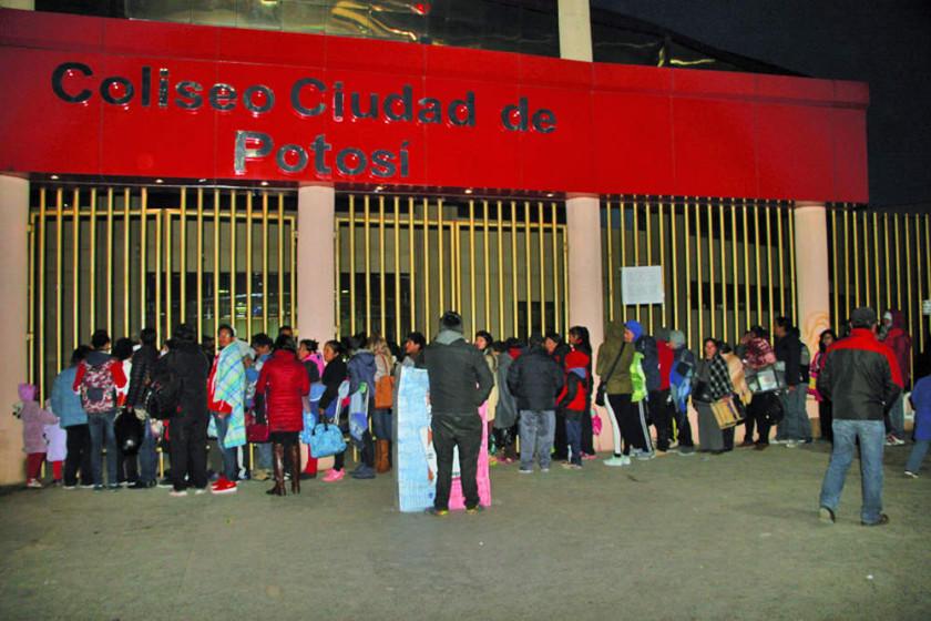 """Las puertas del coliseo """"Ciudad de Potosí"""" se abrirán a partir de las 18:00"""