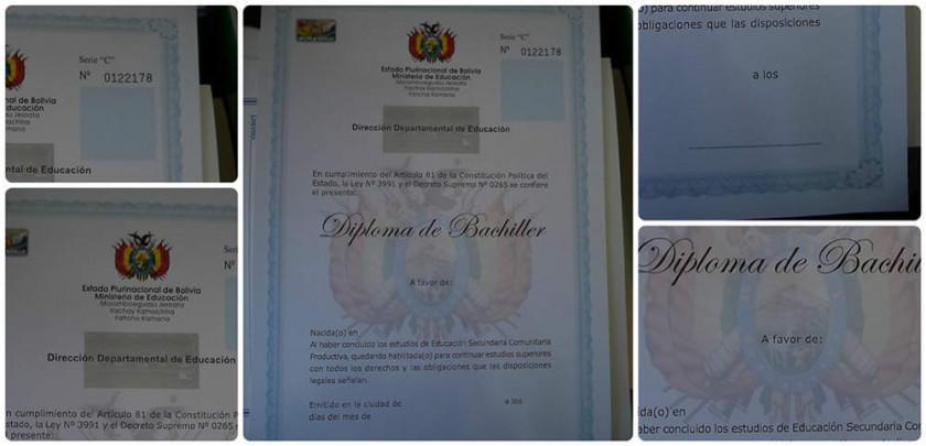 Preparan documentos para los diplomas de bachilleres