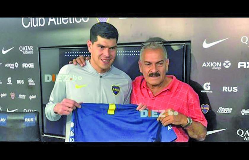 Boca Juniors presenta al meta Carlos Lampe
