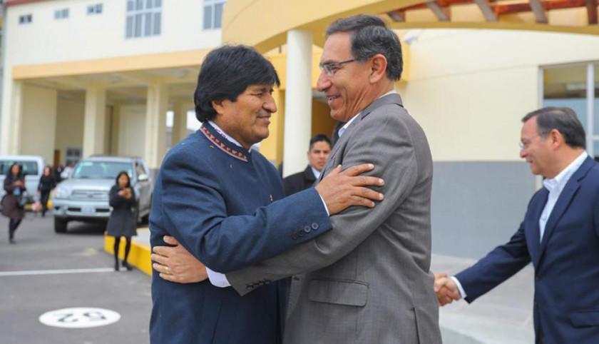 Vizcarra recibirá a Evo Morales mañana en el puerto peruano de Ilo