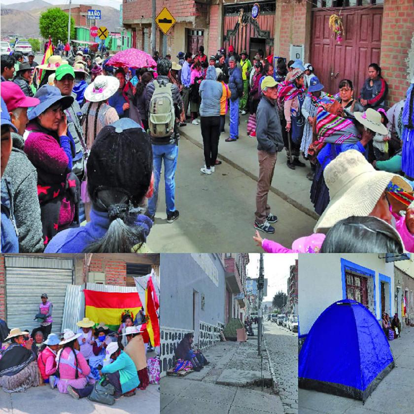 Vendedores toman control de la calle y frenan cambio de puestos