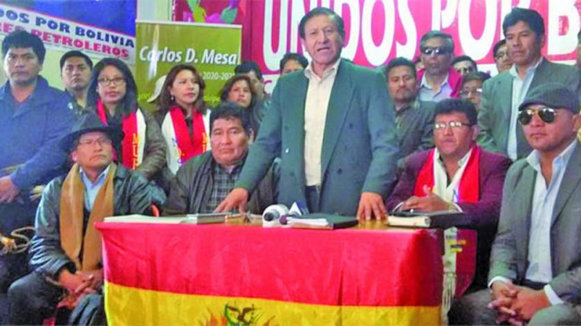 El FRI suma a sus filas a cocaleros de Yungas y maestros rurales