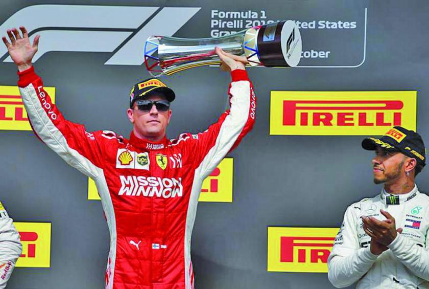 Raikkonen gana el GP de Estados Unidos