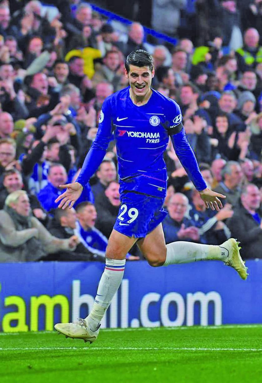 Álvaro Morata guía a Chelsea a la victoria