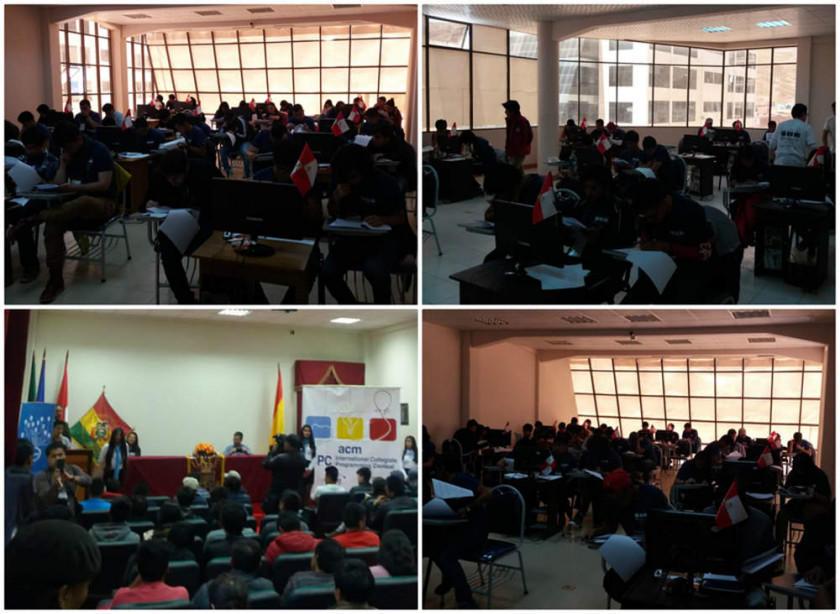 Potosí es sede de la Competencia Latinoamericana de Programación
