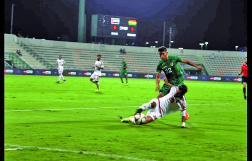Emiratos Árabes Unidos y Bolivia igualan sin goles en amistoso