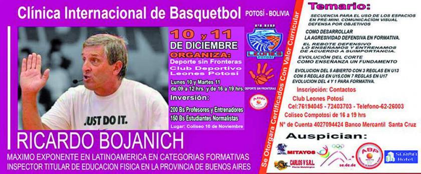 El Club Leones organiza una clínica internacional de básquetbol