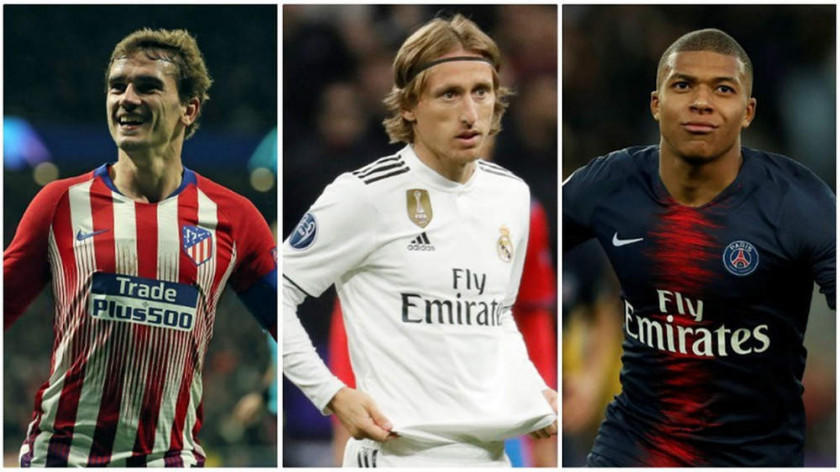 Modric, Griezmann, Mbappé son favoritos para el Balón de Oro
