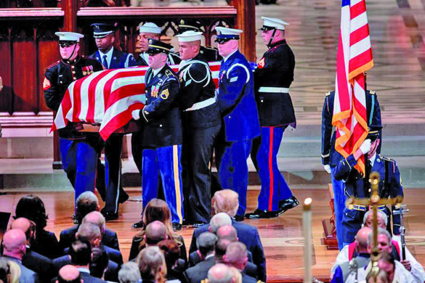 EE.UU. despide con honores al expresidente George H.W. Bush