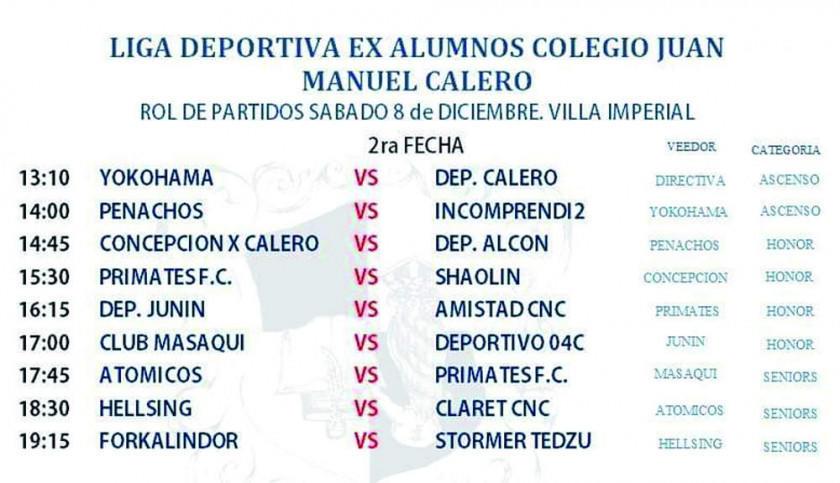 Torneo de la Liga de exalumnos del Calero tiene a 34 equipos en competencia