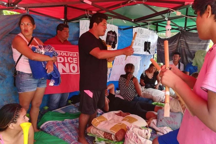 Levantan huelga de hambre por el 21F en Santa Cruz