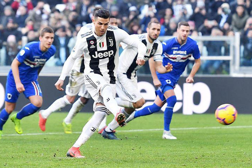 Juventus vence a Sampdoria y refuerza su liderato