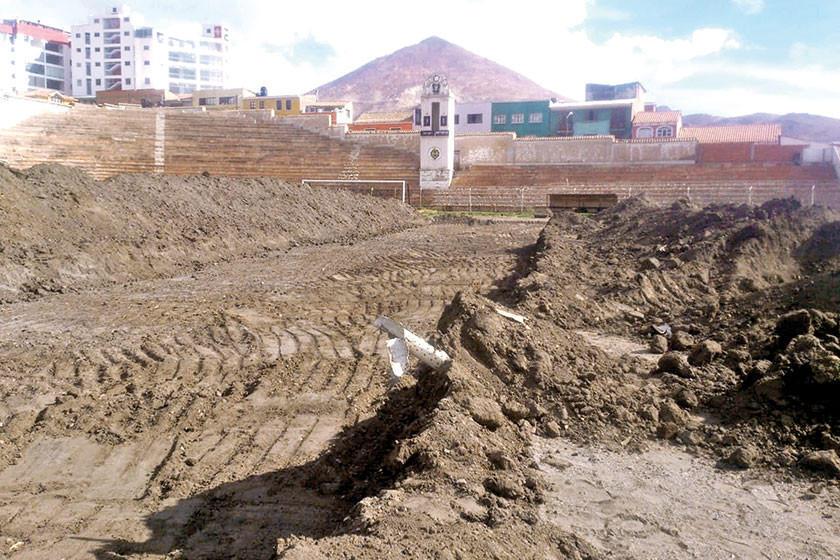 """Avanzan las obras de refacción del estadio """"Potosí"""""""