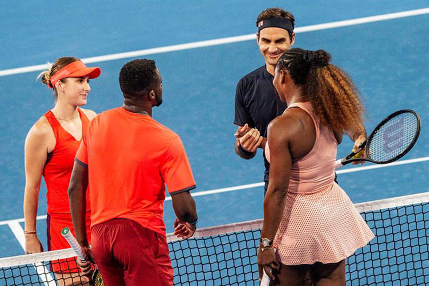 Federer gana el duelo ante Serena Williams
