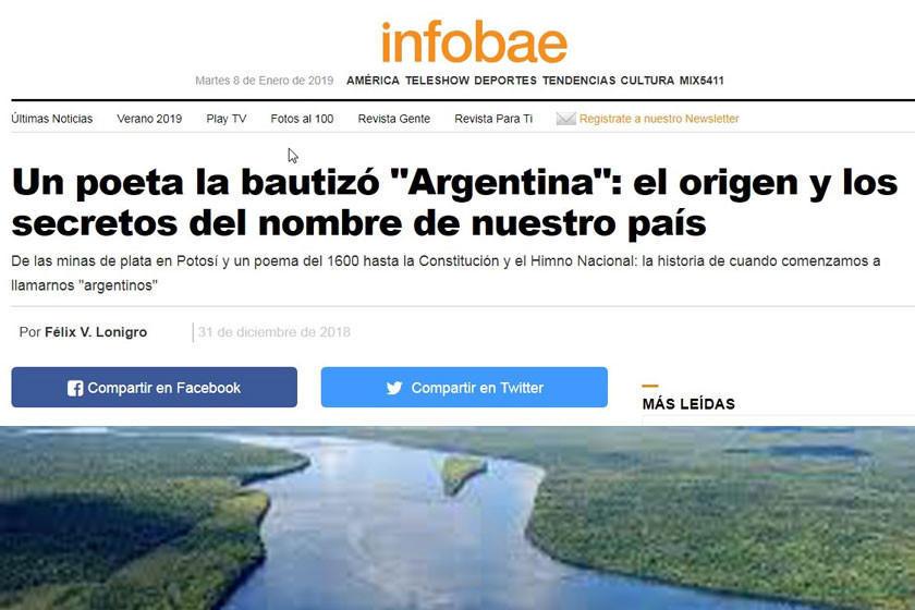 Admiten que Argentina debe nombre a Potosí