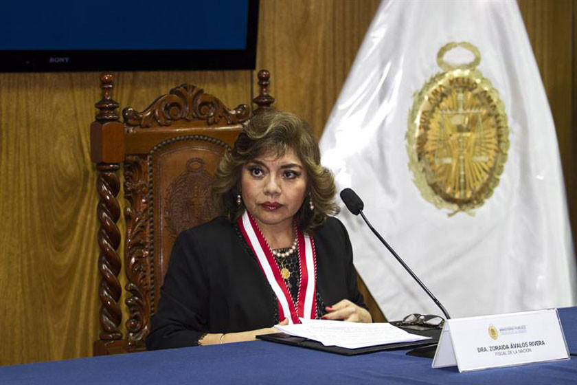 Renuncia fiscal general de Perú busca aplacar crisis de la justicia