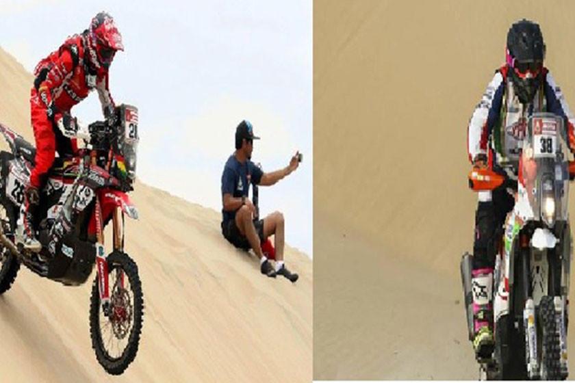 Los pilotos Daniel Nosiglia y Fabricio Fuentes  no aflojan en el Dakar y suben de posición