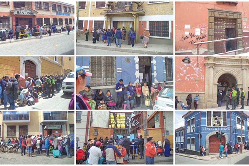Bajan las filas en escuelas para la inscripción escolar en Potosí