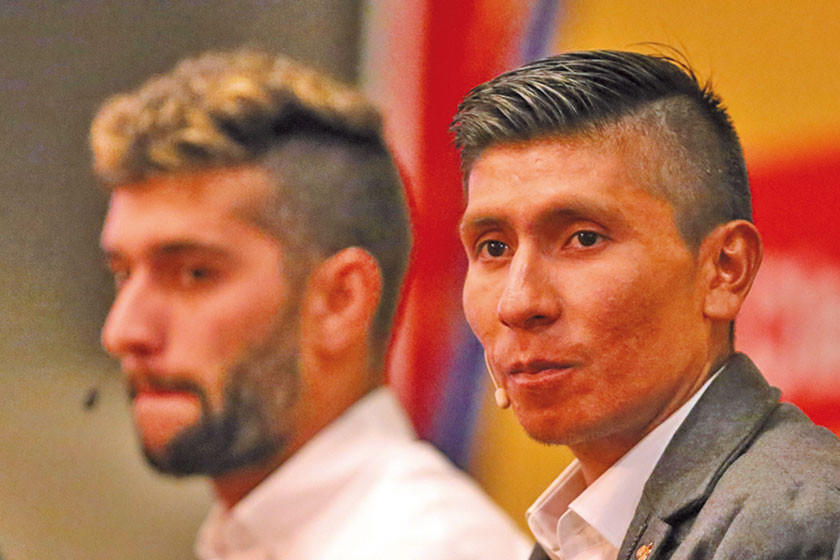 Quintana y Froome chocan en Colombia