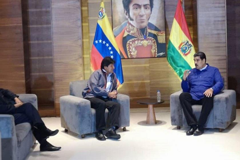 Presidente Morales expresa a Maduro todo su apoyo