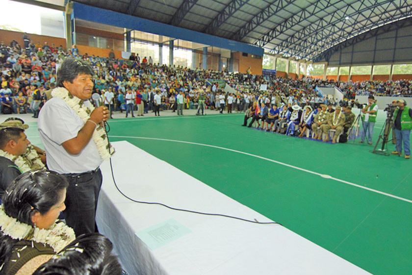 Evo Morales proyecta reducir la pobreza a menos de 5 %