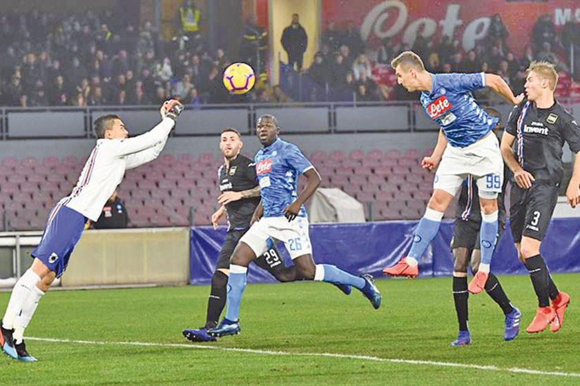 Nápoles gana a Sampdoria  en la Serie A italiana