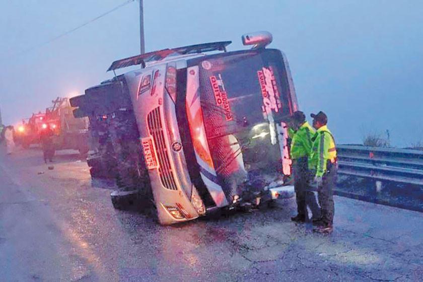 Un accidente de autobús en Ecuador deja cinco fallecidos