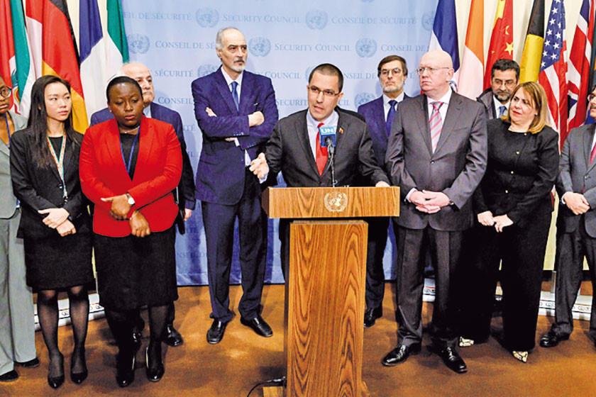 Rusia y aliados se comprometen en la ONU a defender a Maduro