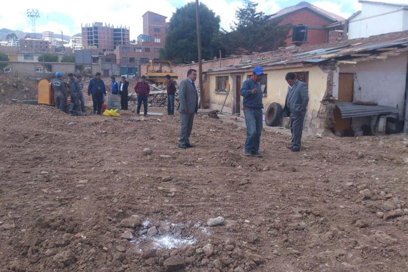 Aceleran los trabajos de construcción  en la cancha auxiliar del estadio