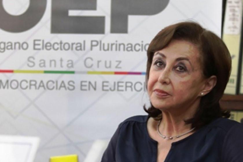 Presidenta del TSE destituye a la directora del Sereci - Santa Cruz
